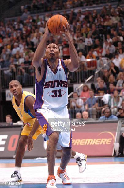 Shawn Marion of Phoenix aims for the basket during the NBA Europe Live Tour presented by EA Sports on October 11 2006 at the Kölnarena in Cologne...