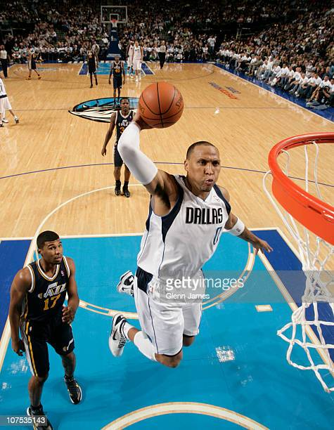 Shawn Marion of the Dallas Mavericks flies in for the dunk against Ronnie Price of the Utah Jazz during a game on December 11 2010 at the American...