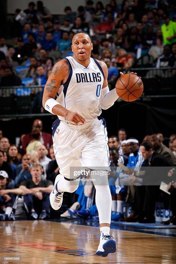 <a gi-track='captionPersonalityLinkClicked' href=/galleries/search?phrase=Shawn+Marion&family=editorial&specificpeople=201566 ng-click='$event.stopPropagation()'>Shawn Marion</a> #0 of the Dallas Mavericks runs up the court against the New Orleans Hornets on April 17, 2013 at the American Airlines Center in Dallas, Texas.