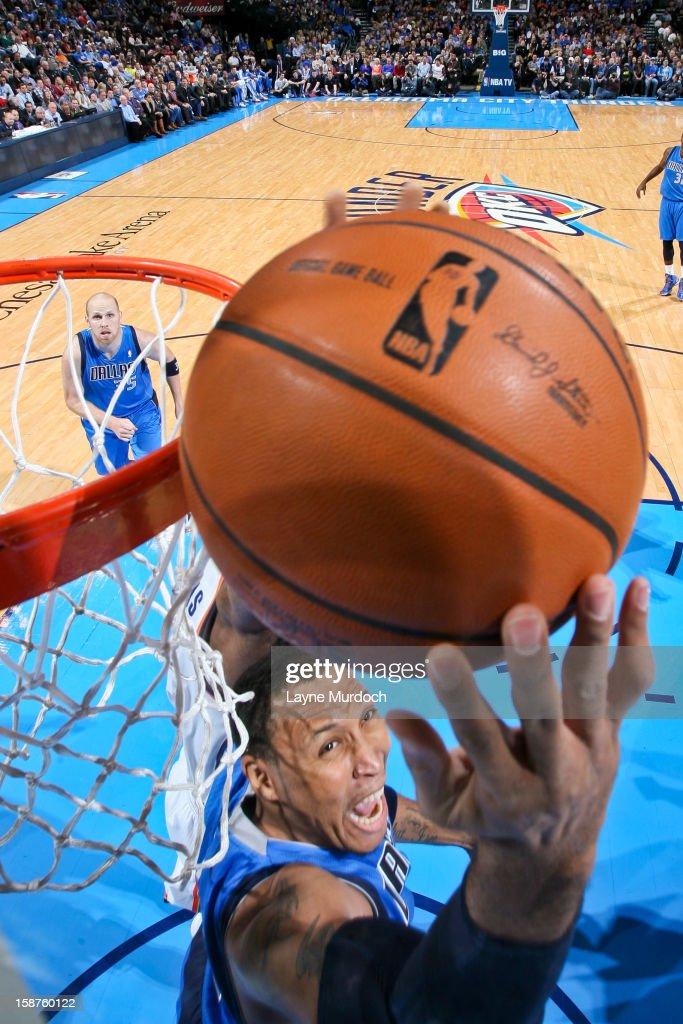 Shawn Marion #0 of the Dallas Mavericks shoots a reverse layup against the Oklahoma City Thunder on December 27, 2012 at the Chesapeake Energy Arena in Oklahoma City, Oklahoma.