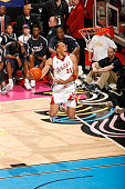 Shawn Marion of the Western Conference goes up for a jam during the 2007 NBA AllStar Game on February 18 2007 at Thomas Mack Center in Las Vegas...