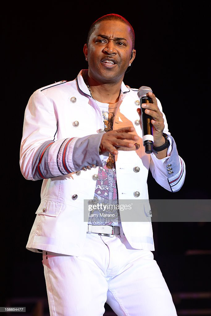 Shawn McQuiller of Kool & The Gang performs at Seminole Casino Coconut Creek on December 31, 2012 in Coconut Creek, Florida.