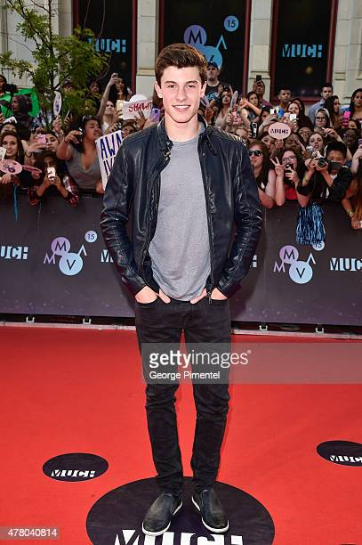 Shawn Mendes arrives at the 2015 MuchMusic Video Awards at MuchMusic HQ on June 21 2015 in Toronto Canada