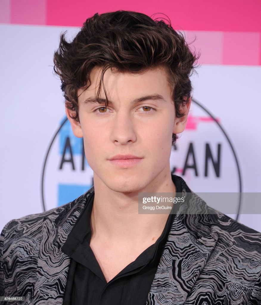 Shawn Mendes arrives at the 2017 American Music Awards at Microsoft Theater on November 19, 2017 in Los Angeles, California.