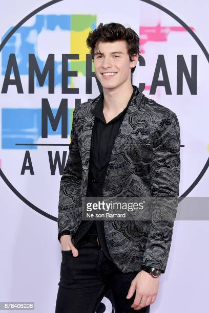 Shawn Mendes attends the 2017 American Music Awards at Microsoft Theater on November 19 2017 in Los Angeles California
