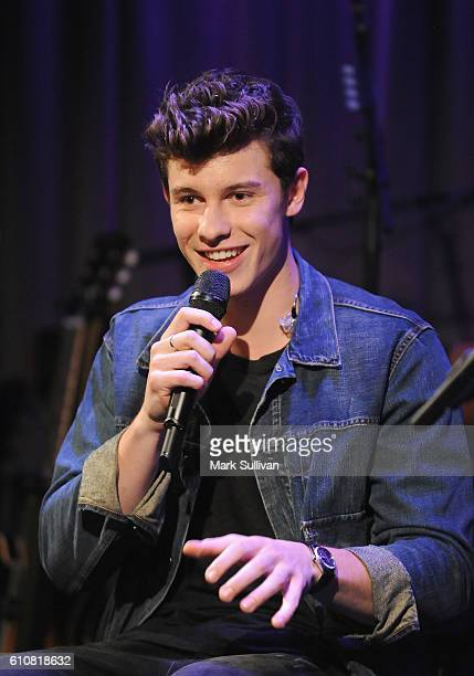 Shawn Mendes on stage at The Drop Shawn Mendes at The GRAMMY Museum on September 27 2016 in Los Angeles California