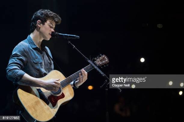 Shawn Mendes performs at the American Airlines Center on July 19 2017 in Dallas Texas