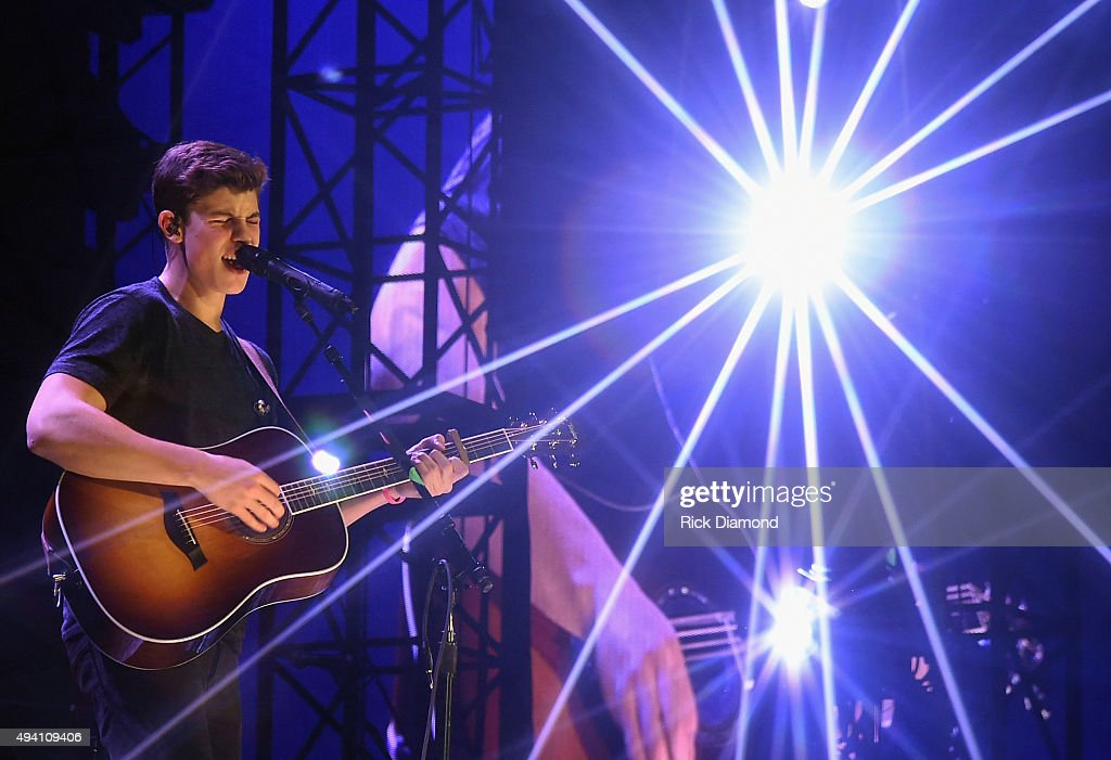Shawn Mendes performs during Taylor Swift's 'The 1989 World tour' at the Sold Out Georgia Dome on October 24, 2015 in Atlanta, Georgia.