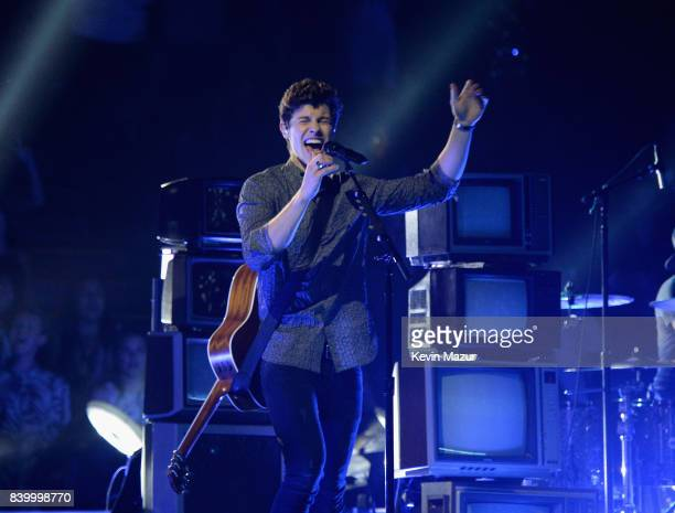 Shawn Mendes performs during the 2017 MTV Video Music Awards at The Forum on August 27 2017 in Inglewood California