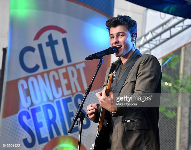 Shawn Mendes performs on the Citi Concert Series on TODAY at Rockefeller Center on July 8 2016 in New York City