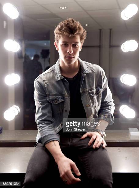 Shawn Mendes poses backstage during rehearsals for the 2017 MTV Video Music Awards at The Forum on August 25 2017 in Inglewood California