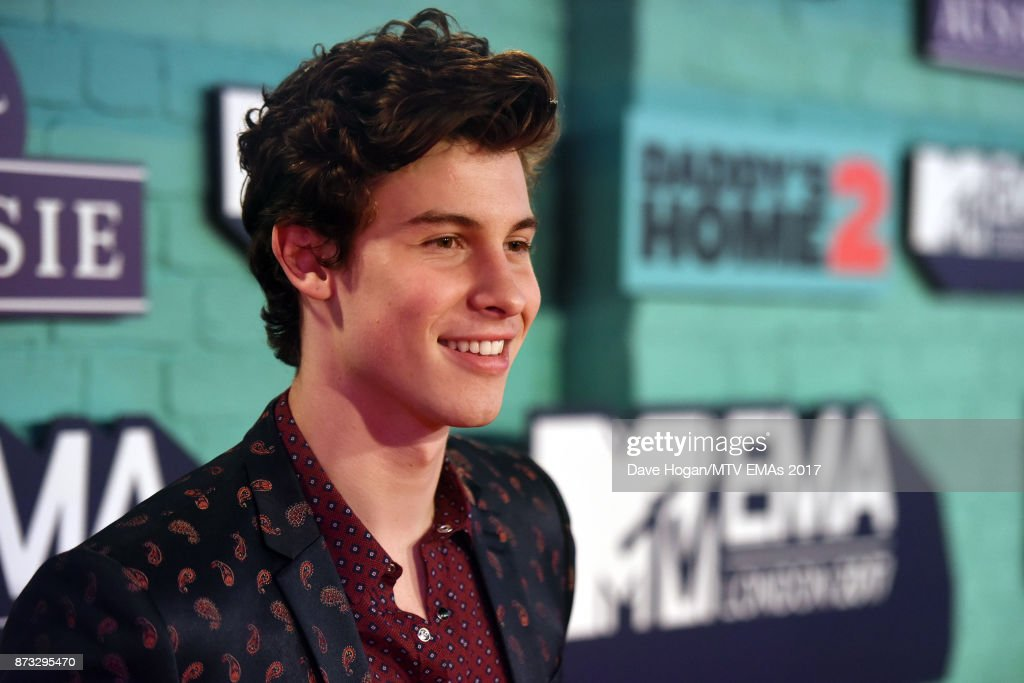 Shawn Mendez attends the MTV EMAs 2017 held at The SSE Arena, Wembley on November 12, 2017 in London, England.