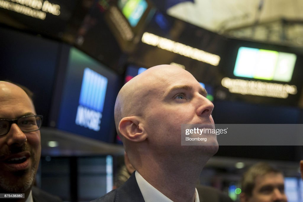 Trading On The Floor Of The NYSE As U.S. Stocks Decline With Dollar