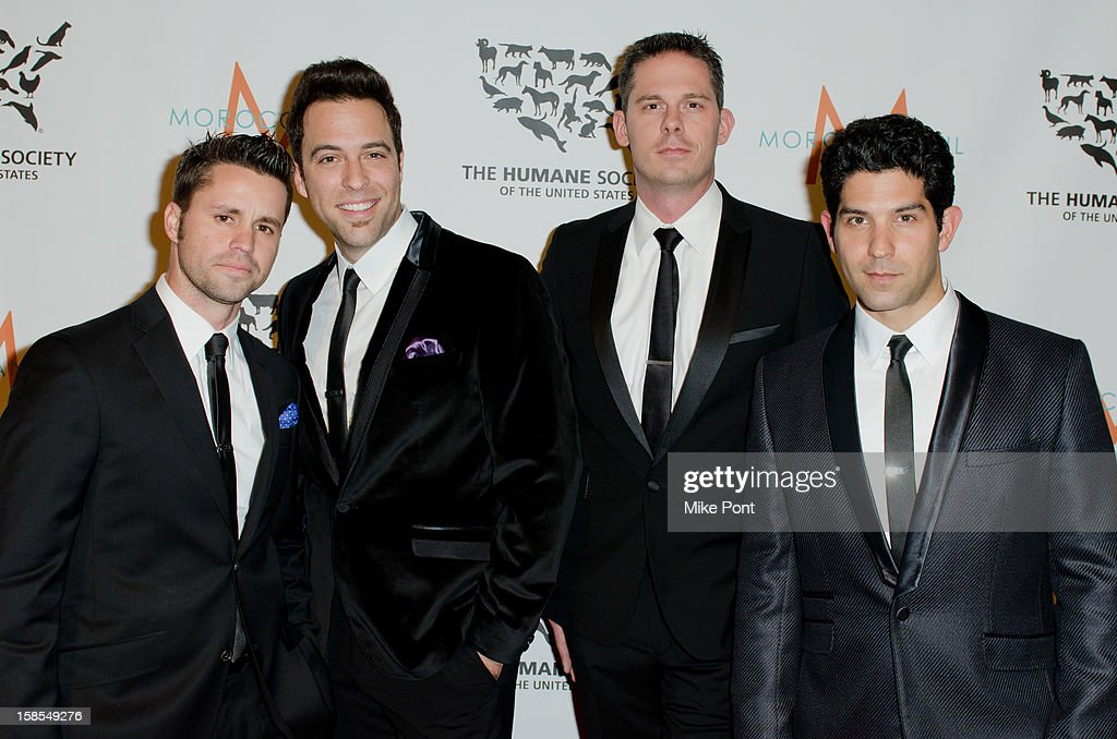 Shawn Perucca, Brian Purcell, Stuart Ambrose, and Daniel Tatar of 'The Company Men' attend The Humane Society of the United States presents the To The Rescue! gala benefiting post hurricane Sandy efforts at Cipriani 42nd Street on December 18, 2012 in New York City.