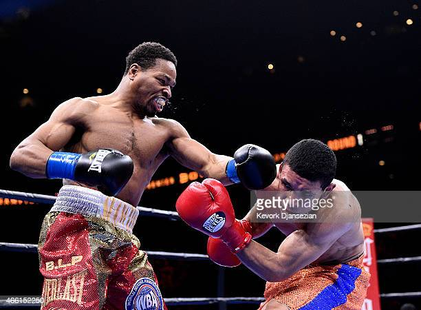 Shawn Porter lands a punch against Erick Bone during their 12 round welterweight bout at Citizens Business Bank Arena March 13 2015 in Ontario...