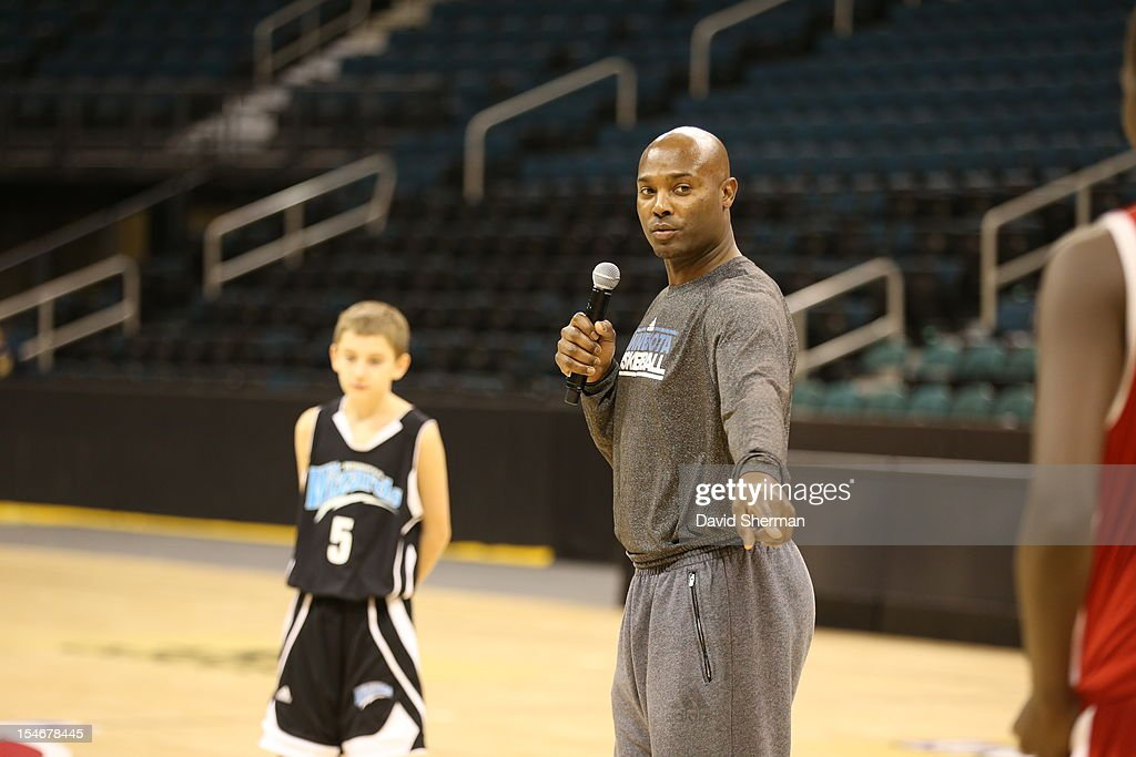 Shawn Respert, Assistant Coach of the Minnesota Timberwolves directs a Coaches Clinic during NBA Canada Series 2012 on October 23, 2012 at the MTS Centre in Winnipeg, Manitoba, Canada.
