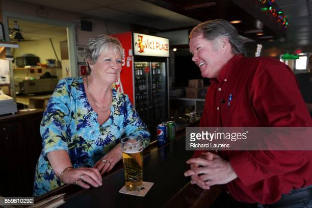 BELLEVILLE ON APRIL 13 Shawn sits at Vic's Place his favourite neighbourhood bar and has a laugh with owner Vicki Colton Toronto boxer Shawn...