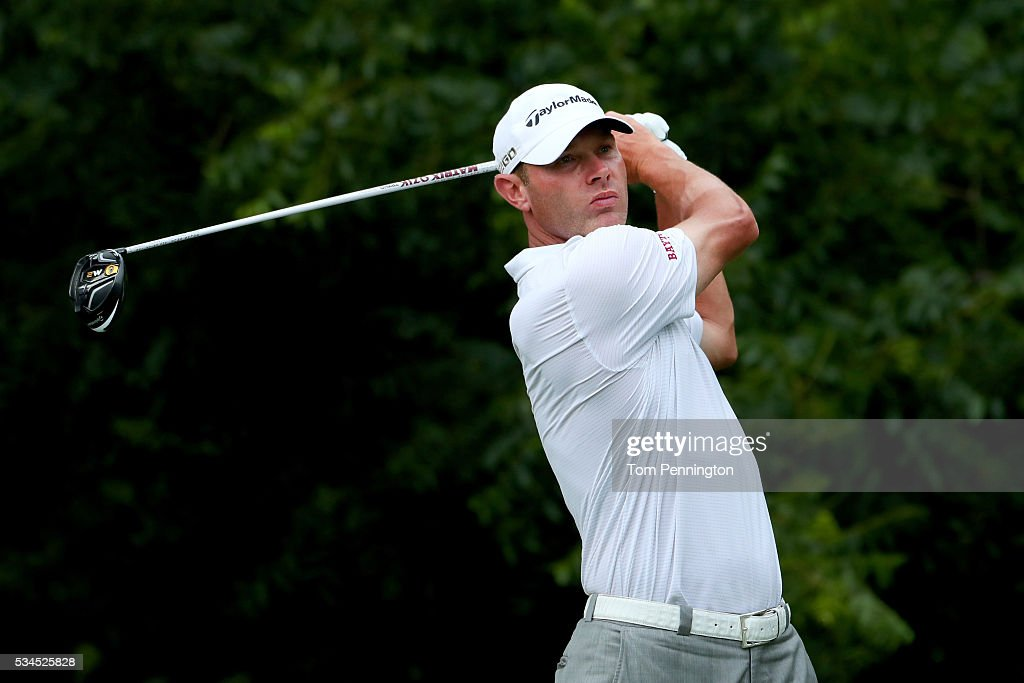 <a gi-track='captionPersonalityLinkClicked' href=/galleries/search?phrase=Shawn+Stefani&family=editorial&specificpeople=5926017 ng-click='$event.stopPropagation()'>Shawn Stefani</a> plays his shot from the sixth tee during the First Round of the DEAN & DELUCA Invitational at Colonial Country Club on May 26, 2016 in Fort Worth, Texas.