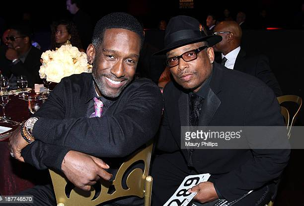 Shawn Stockman of Boyz II Men and music producer Terry Lewis attend Architects of Sound Motown at The GRAMMY Museum on November 11 2013 in Los...