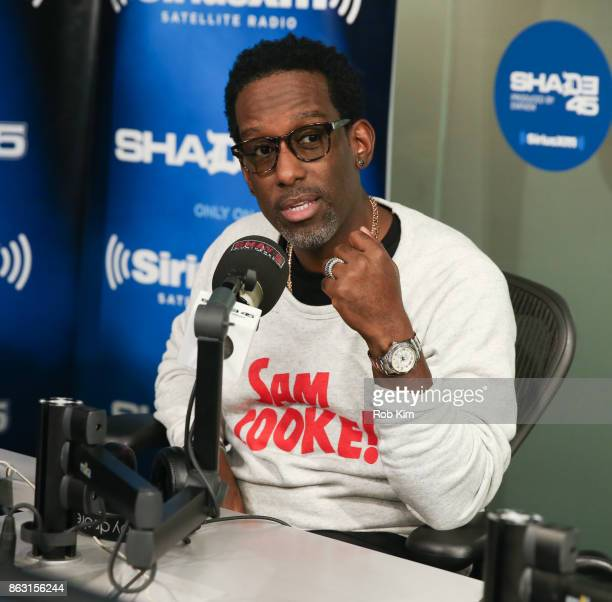 Shawn Stockman of Boyz II Men visits 'Sway in the Morning' at SiriusXM Studios on October 19 2017 in New York City