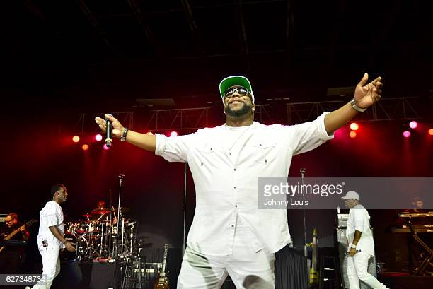 Shawn Stockman Wanya Morris and Nathan Morris of Boyz II Men perform onstage at Pompano Beach Amphitheatre on December 2 2016 in Pompano Beach Florida