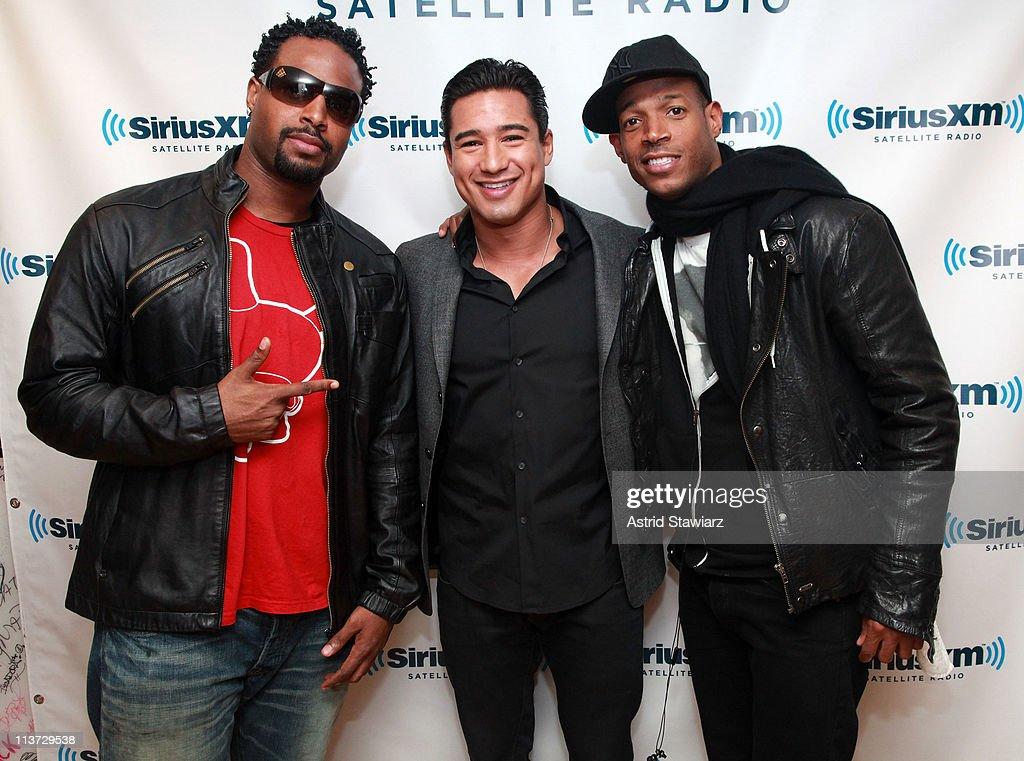 Shawn & Marlon Wayans And Mario Lopez Visits SiriusXM