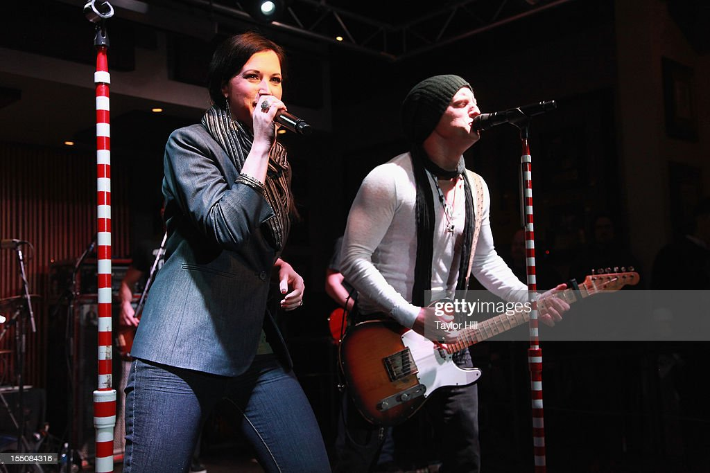 Shawna and <a gi-track='captionPersonalityLinkClicked' href=/galleries/search?phrase=Keifer+Thompson&family=editorial&specificpeople=7618627 ng-click='$event.stopPropagation()'>Keifer Thompson</a> of Thompson Square perform at the BBR Music Group 3rd annual Pre-CMA party at the Hard Rock Cafe Nashville on October 31, 2012 in Nashville, Tennessee.