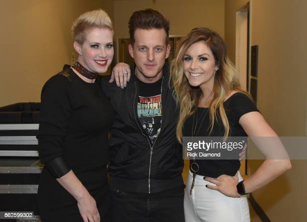 Shawna Thompson and Keifer Thompson of Thompson Square and Lindsay Ell attend the WME Party during IEBA 2017 Conference on October 17 2017 in...