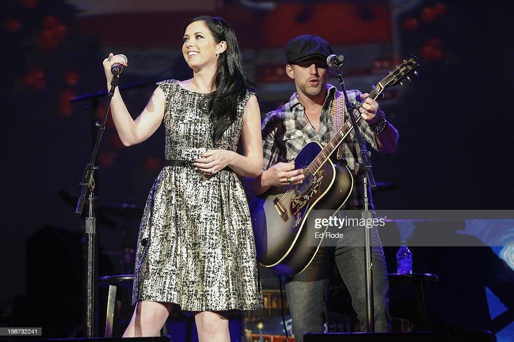 Shawna Thompson and Keifer Thompson of Thompson Square perform at Ryman Auditorium on November 19, 2012 in Nashville, Tennessee.