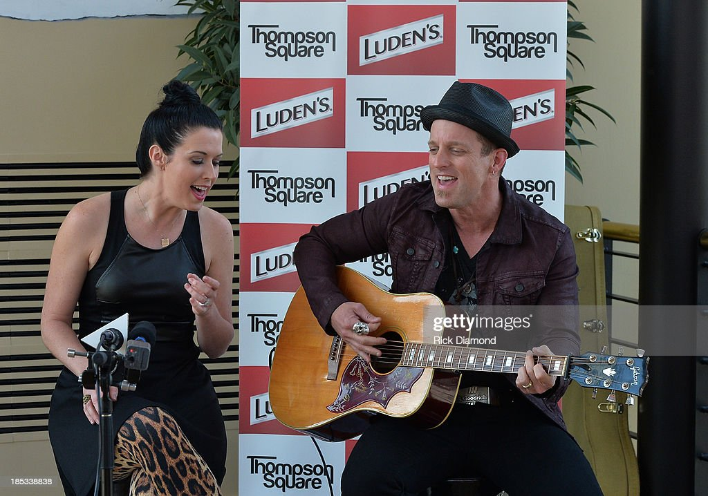 Shawna Thompson and Keifer Thompson who are Thompson Square perform at the Luden's and Thompson Square Make Sweet Music Together to Celebrate 'Voices...