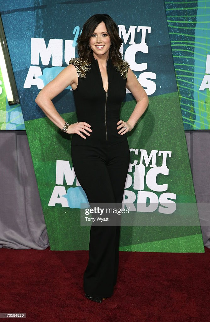 Shawna Thompson attends the 2015 CMT Music awards at the Bridgestone Arena on June 10 2015 in Nashville Tennessee