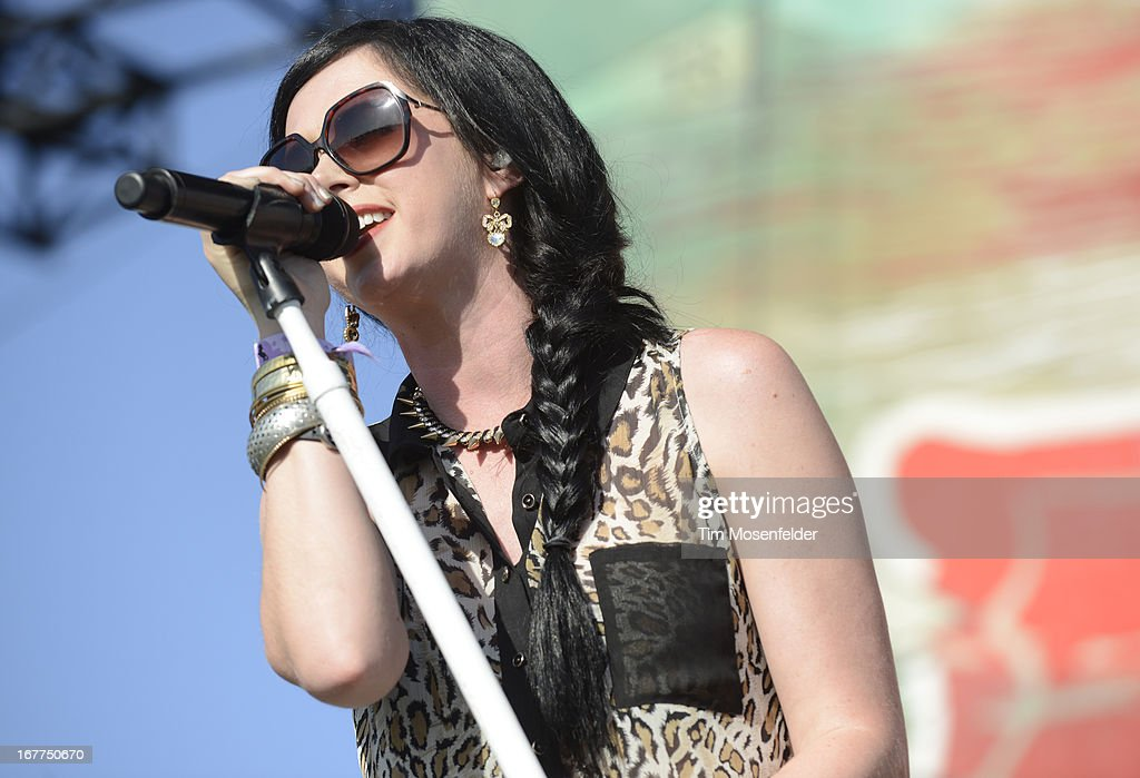 Shawna Thompson of Thompson Square performs as part of the Stagecoach Music Festival at the Empire Polo Grounds on April 28, 2013 in Indio, California.