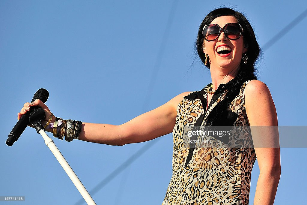 Shawna Thompson of Thompson Square performs at the 2013 Stagecoach Country Music Festival at The Empire Polo Club on April 28, 2013 in Indio, California.