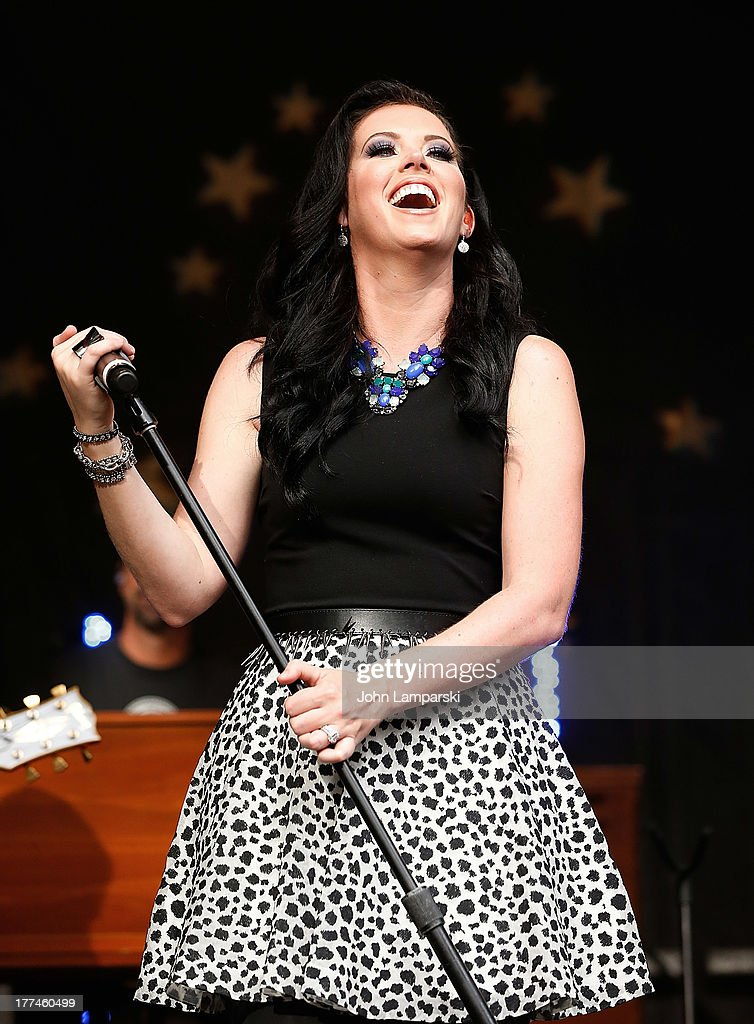 Shawna Thompson of Thompson Square performs during 'FOX Friends' All American Concert Series outside of FOX Studios on August 23 2013 in New York City