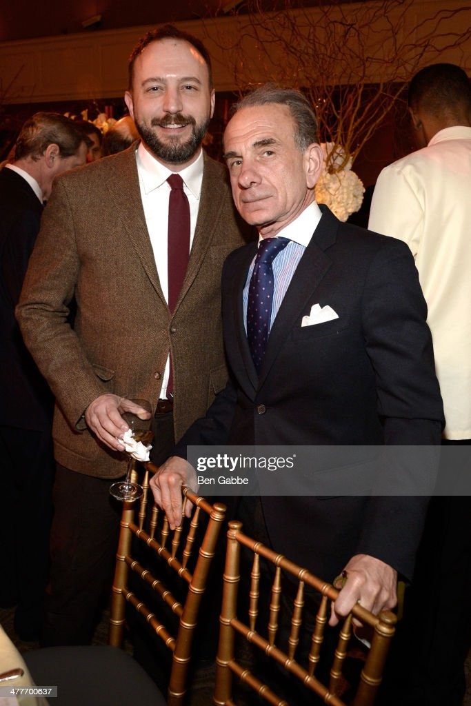 Shax Riegler (L) and Robert Rufino attend the New York School Of Interior Design 2014 Benefit Dinner at 583 Park Avenue on March 10, 2014 in New York City.