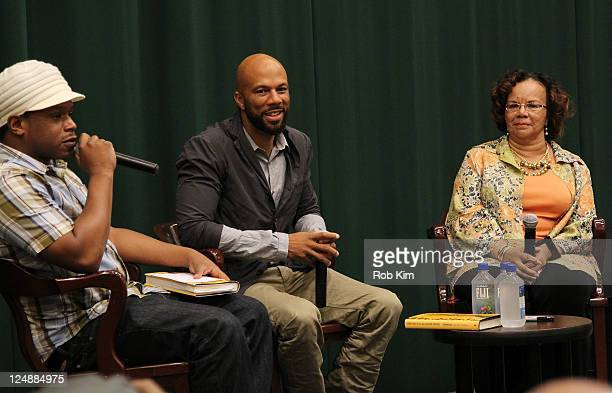 Shay Dr Mahalia Ann Hines and her son rapper Common attend the booksigning for 'One Day It'll All Make Sense' at Barnes Noble Tribeca on September 13...