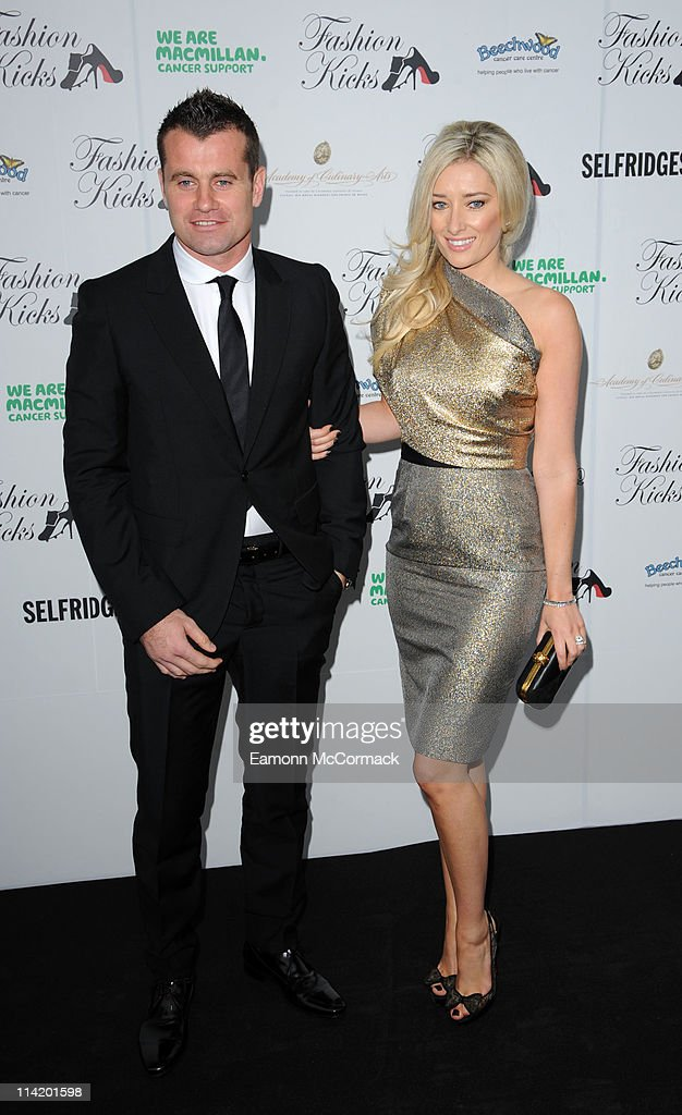 Shay Given and wife attend Fashion Kicks at Lancashire County Cricket Club on May 15 2011 in Manchester England