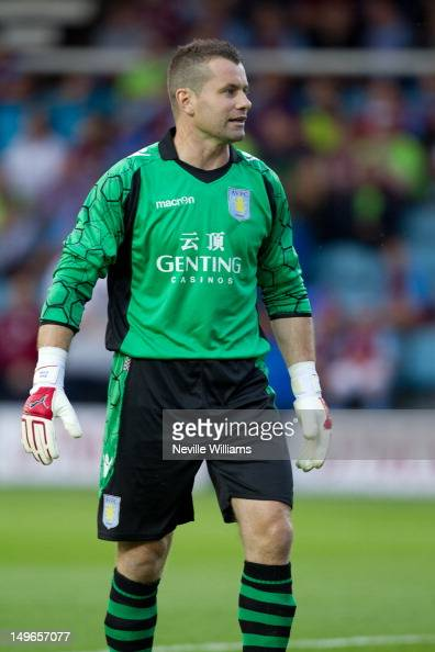 Shay Given of Aston Villa during the Pre Season Friendly match between Peterborough United and Aston Villa at London Road on August 1 2012 in...