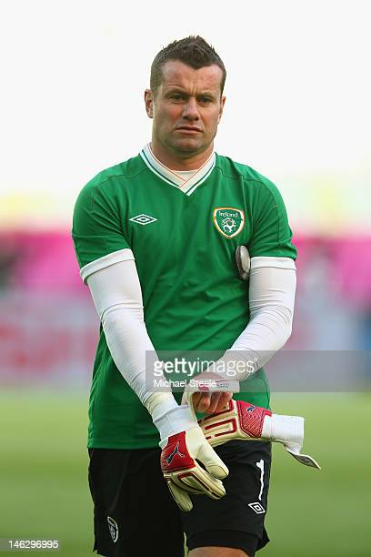 Shay Given of Ireland during a UEFA EURO 2012 training session at the Municipal Stadium on June 13 2012 in Gdansk Poland