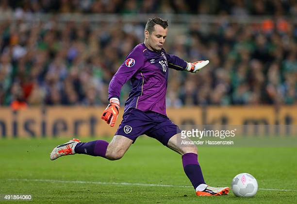 Shay Given of Republic of Ireland in action during the UEFA EURO 2016 Qualifier group D match between Republic of Ireland and Germany at the Aviva...