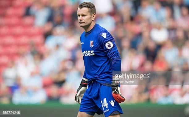 Shay Given of Stoke City during the Premier League match between Middlesbrough and Stoke City on August 13 2016 in Middlesbrough