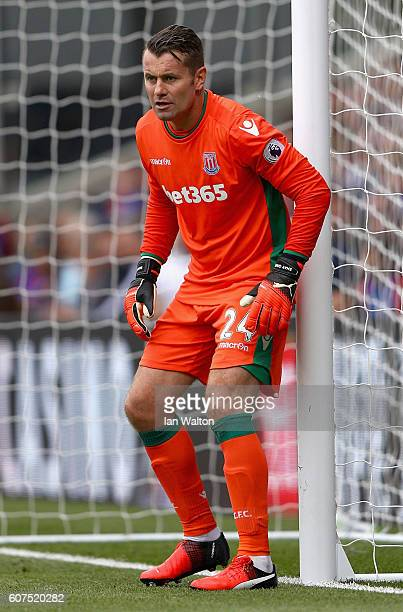 Shay Given of Stoke City in action during the Premier League match between Crystal Palace and Stoke City at Selhurst Park on September 18 2016 in...