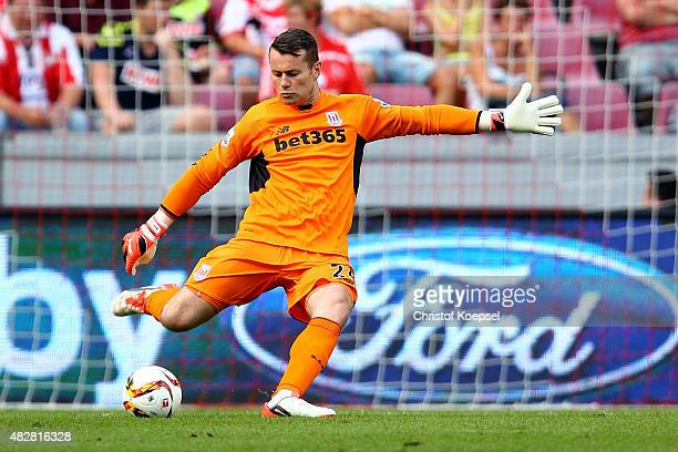 Shay Given of Stoke City kicks the ball during the Colonia Cup 2015 match between FC Porto and Stoke City FC at RheinEnergieStadion on August 2 2015...