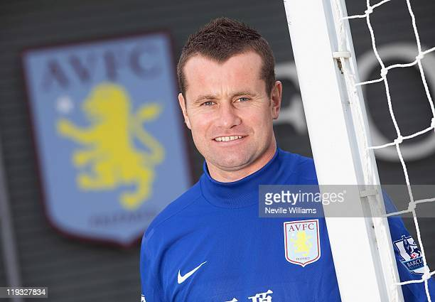 Shay Given poses as he signs for Aston Villa at the Aston Villa training ground Bodymoor Heath on July 18 2011 in Birmingham England
