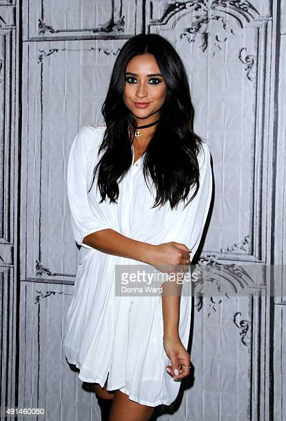 Shay Mitchell appears to promote 'Bliss' during the AOL BUILD Series at AOL Studios In New York on October 5 2015 in New York City