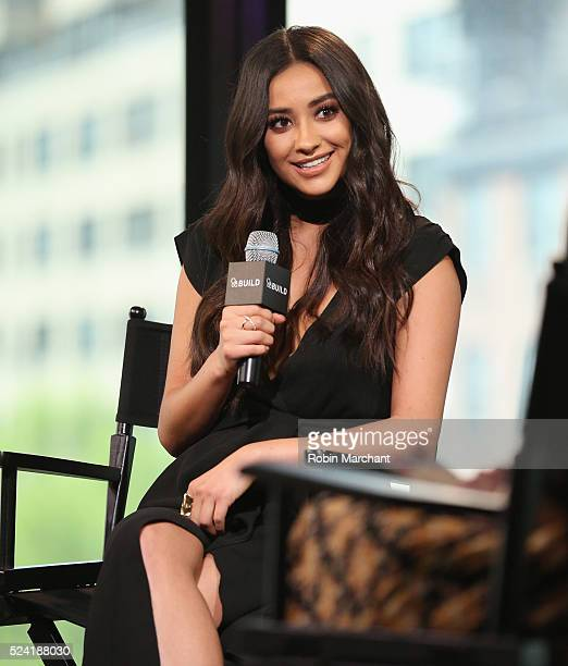 Shay Mitchell attends AOL Build Presents 'Mother's Day' at AOL Studios In New York on April 25 2016 in New York City