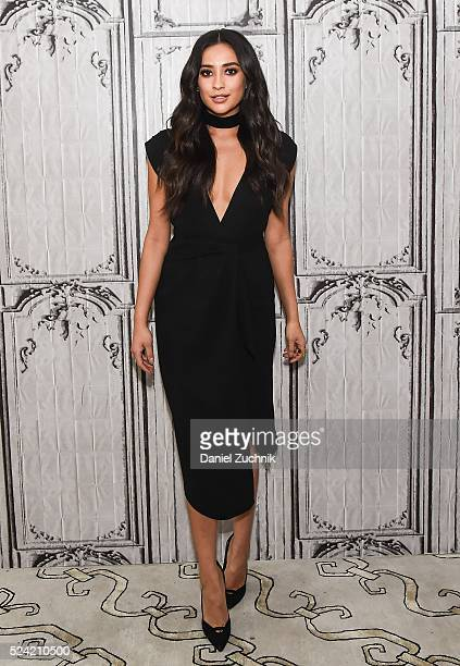 Shay Mitchell attends AOL Build to discuss her new film 'Mother's Day' on April 25 2016 in New York New York