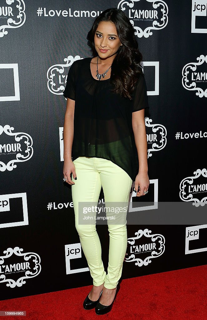 Shay Mitchell attends JCPenney and Nanette Lepore Launch Event for L'Amour by Nanette Lepore at Good Units on January 24, 2013 in New York City.