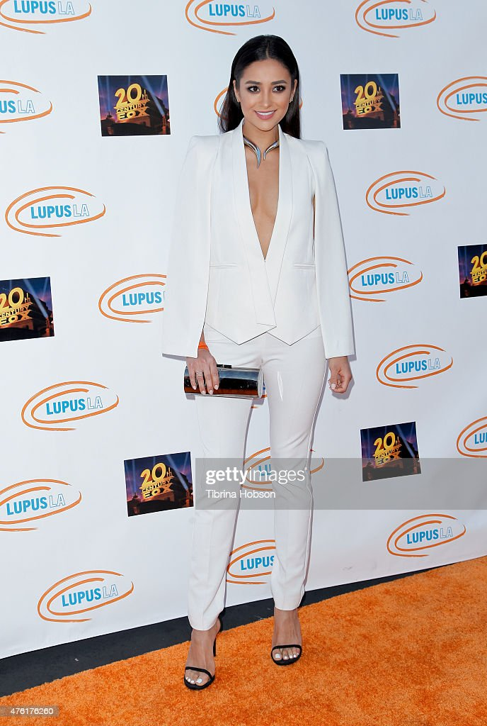Shay Mitchell attends Lupus LA's Orange Ball A Night of Superheroes at Fox Studio Lot on June 6 2015 in Century City California