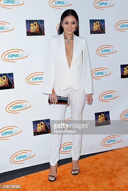 Shay Mitchell attends Lupus LA's Orange Ball A Night of Superheroes at Fox Studio Lot on June 6 2015 in Century City California